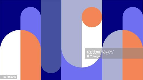 abstract retro midcentury geometric graphics - geometric stock illustrations