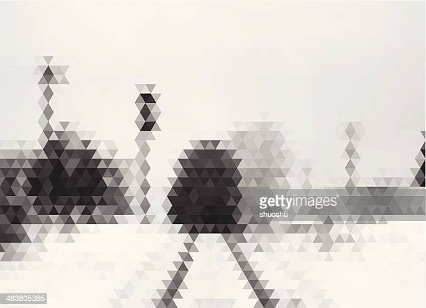 abstract rhombus style train in winter pattern background