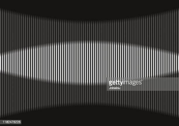 illustrazioni stock, clip art, cartoni animati e icone di tendenza di onde grigie ritmiche astratte - gol di pareggio