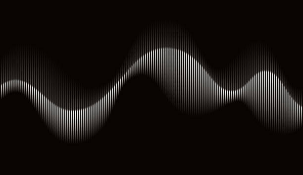 abstract rhythmic sound wave - vector stock illustrations