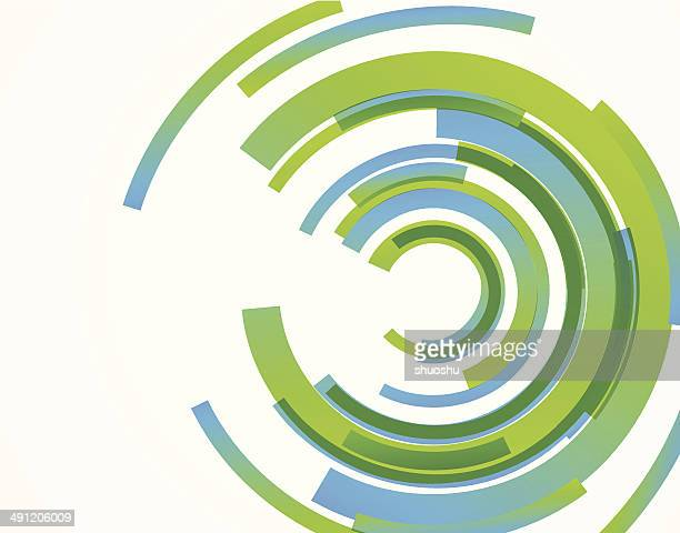 abstract ring technology concept pattern background