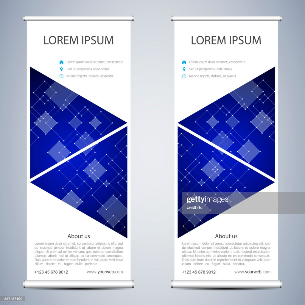 Abstract Roll Up Banner For Presentation And Publication Science ...