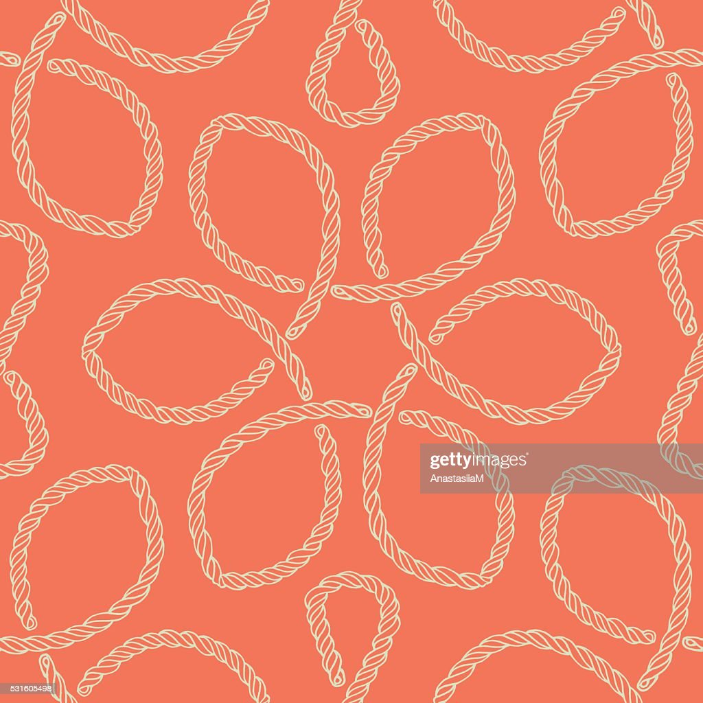 Abstract rope knot seamless pattern.