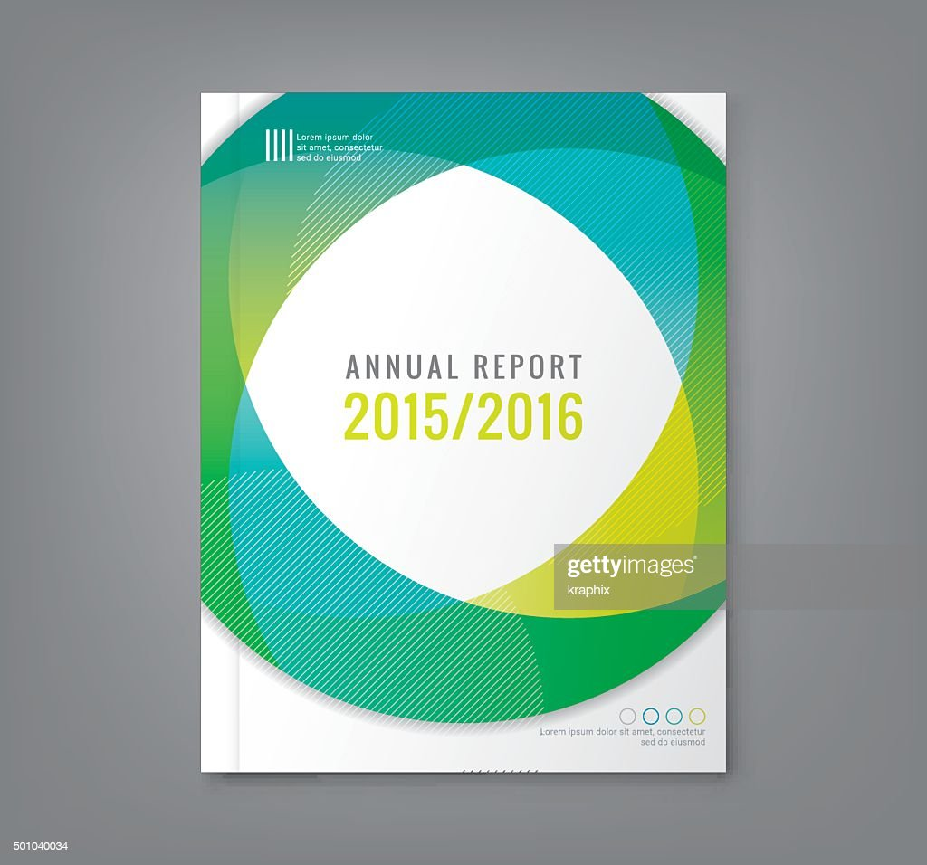Abstract round circle shapes background for business report book cover