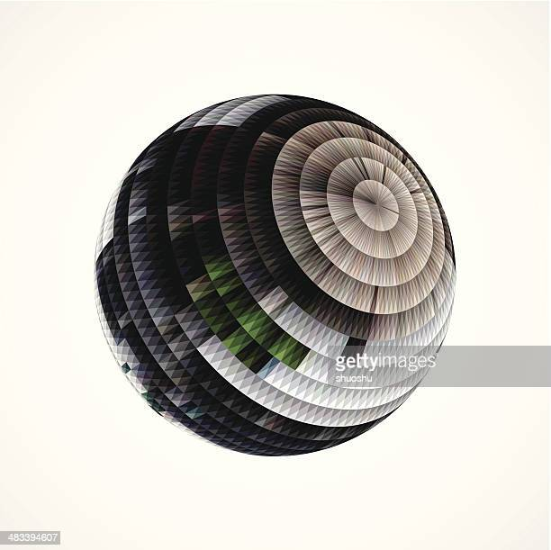 abstract round style stripe shape background