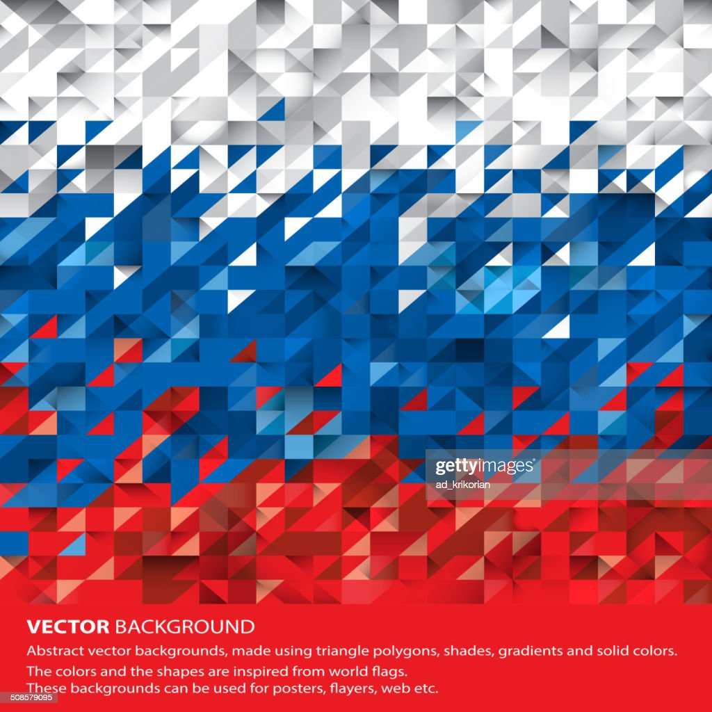 Abstract Russian Flag, Russia Background (Vector Art) : Vector Art