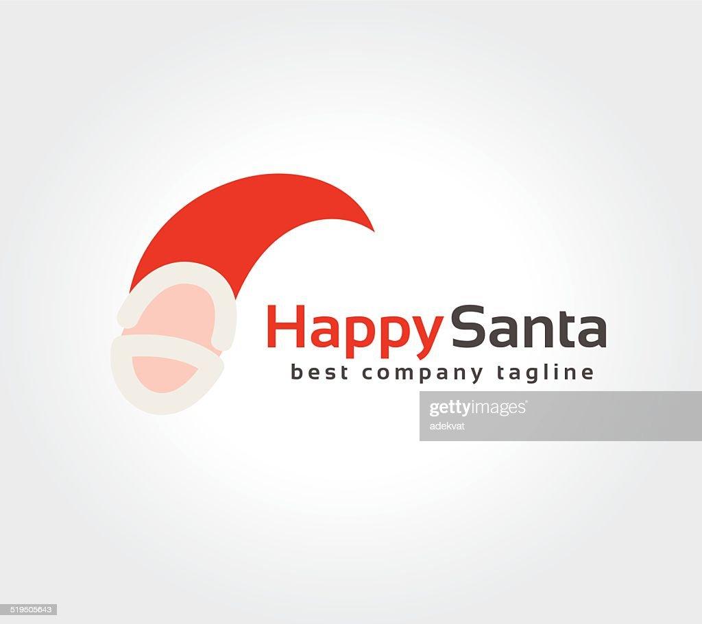 Abstract Santa Face Vector Logo Icon Concept Logotype Template For ...