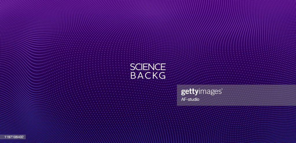 Abstract & science technology background. Network, particle illustration. 3D grid surface : Stock Illustration