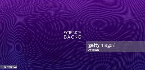 abstract & science technology background. network, particle illustration. 3d grid surface - purple stock illustrations