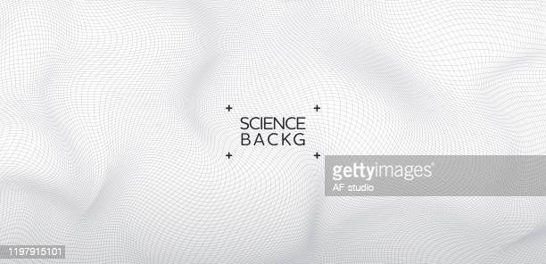 abstract & science technology background. network, particle illustration. 3d grid surface - science stock illustrations