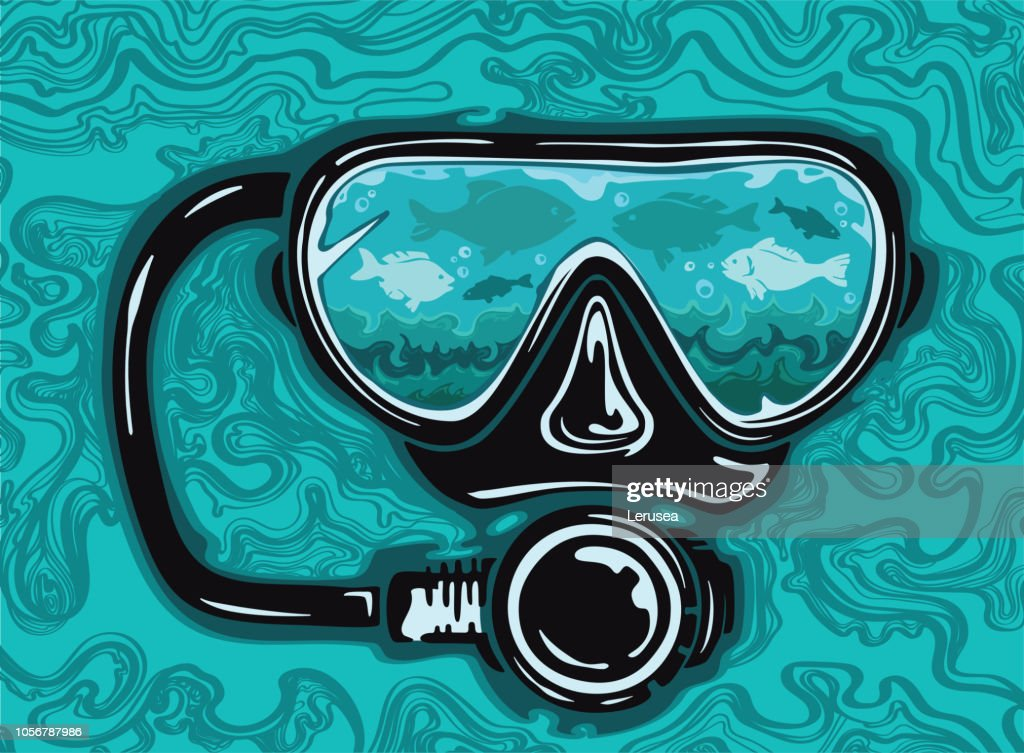 Abstract scuba diving mask