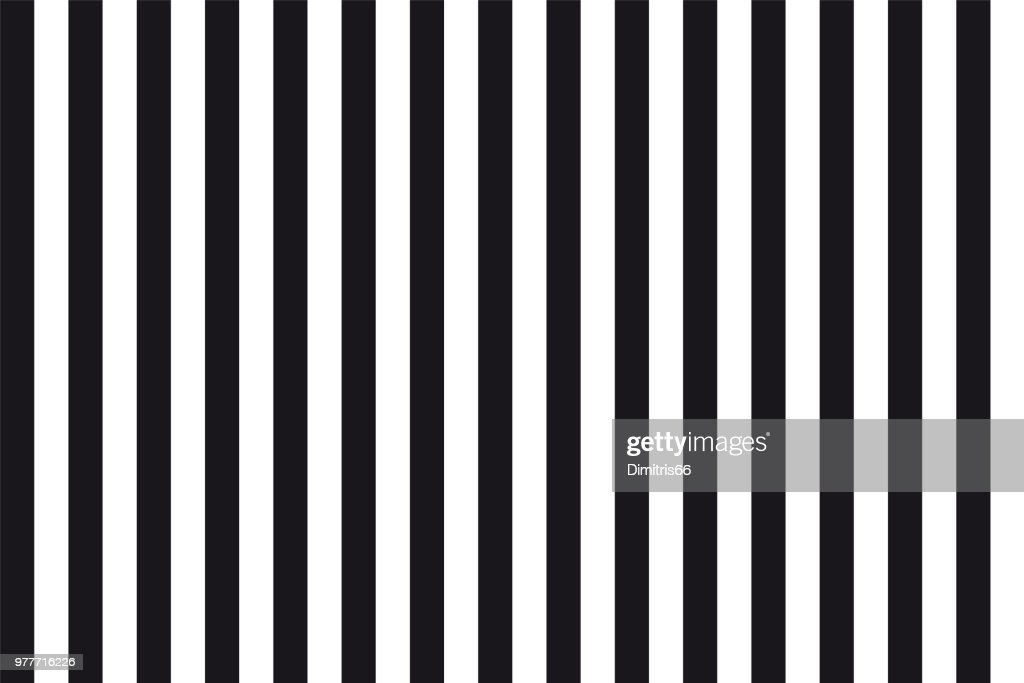 Abstract seamless background of black and white parallel vertical lines : Stock Illustration