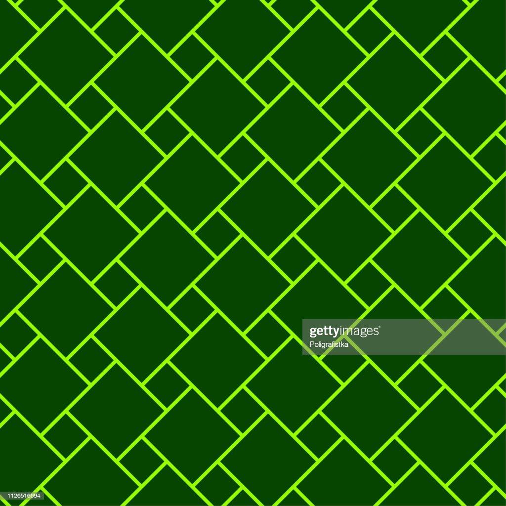 抽象的なパターン 緑のシームレスな背景の壁紙 ベクトル イラスト