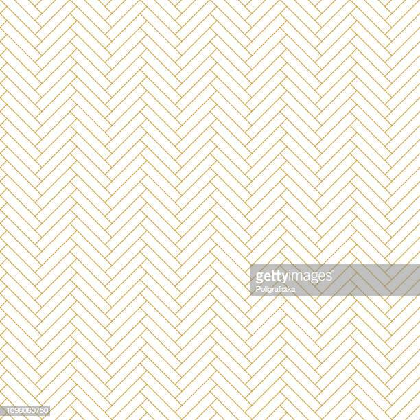 abstract seamless background pattern - parquet - gold wallpaper - vector illustration - in a row stock illustrations