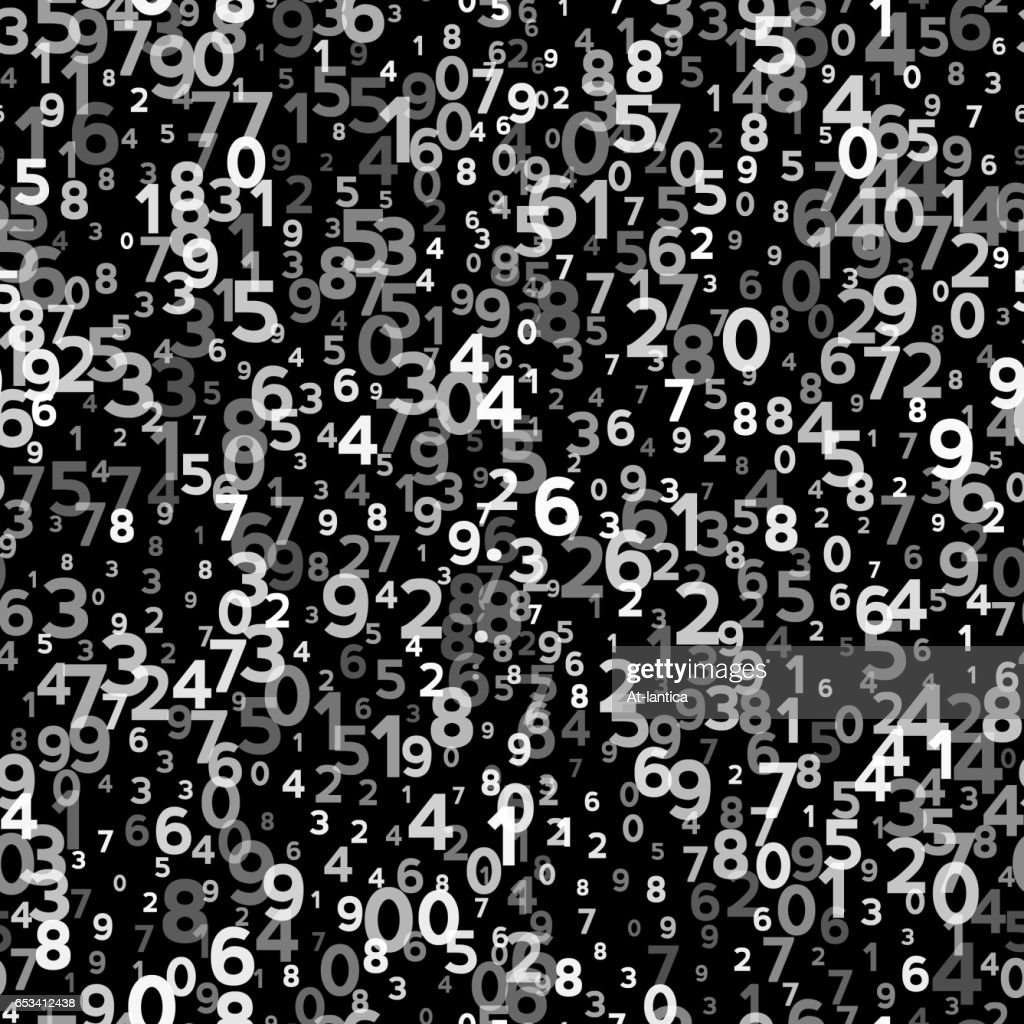 Abstract Seamless Background with Numbers
