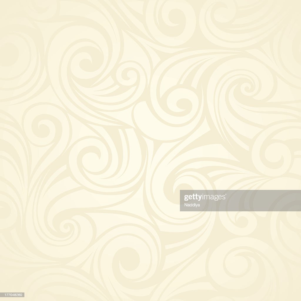 Abstract seamless beige background with swirled designs