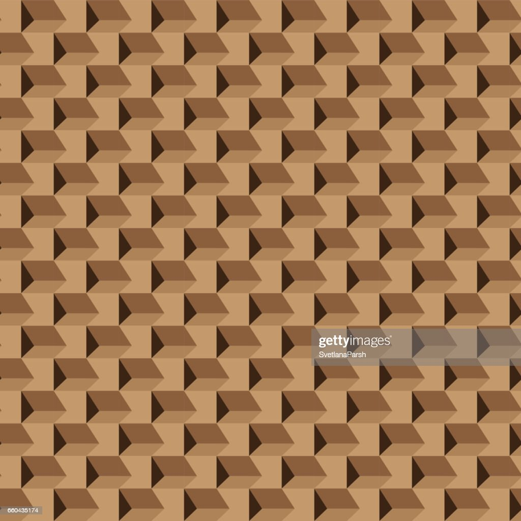 Abstract seamless brown pattern, opt art.