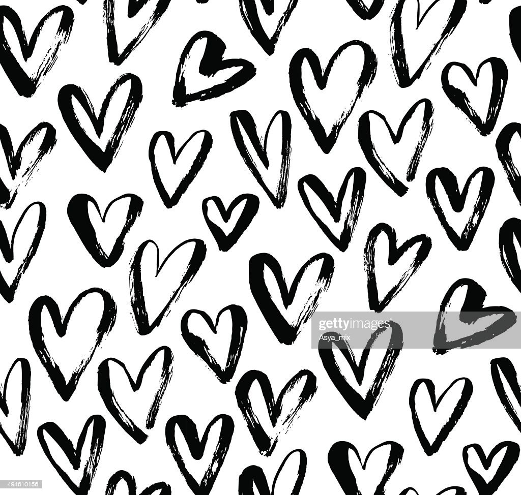 Abstract seamless heart pattern.
