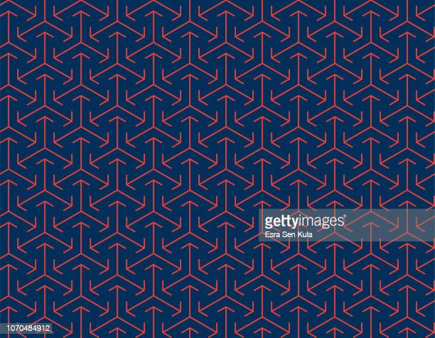 abstract seamless japanese arrow pattern - traditional clothing stock illustrations