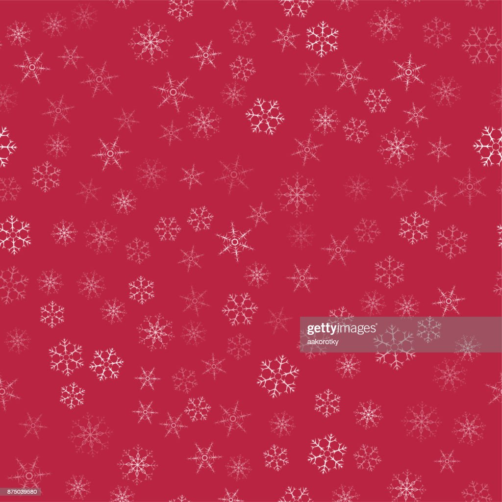 Abstrakte Musterdesign Weihnachten Schneeflocken Auf Einem Roten ...