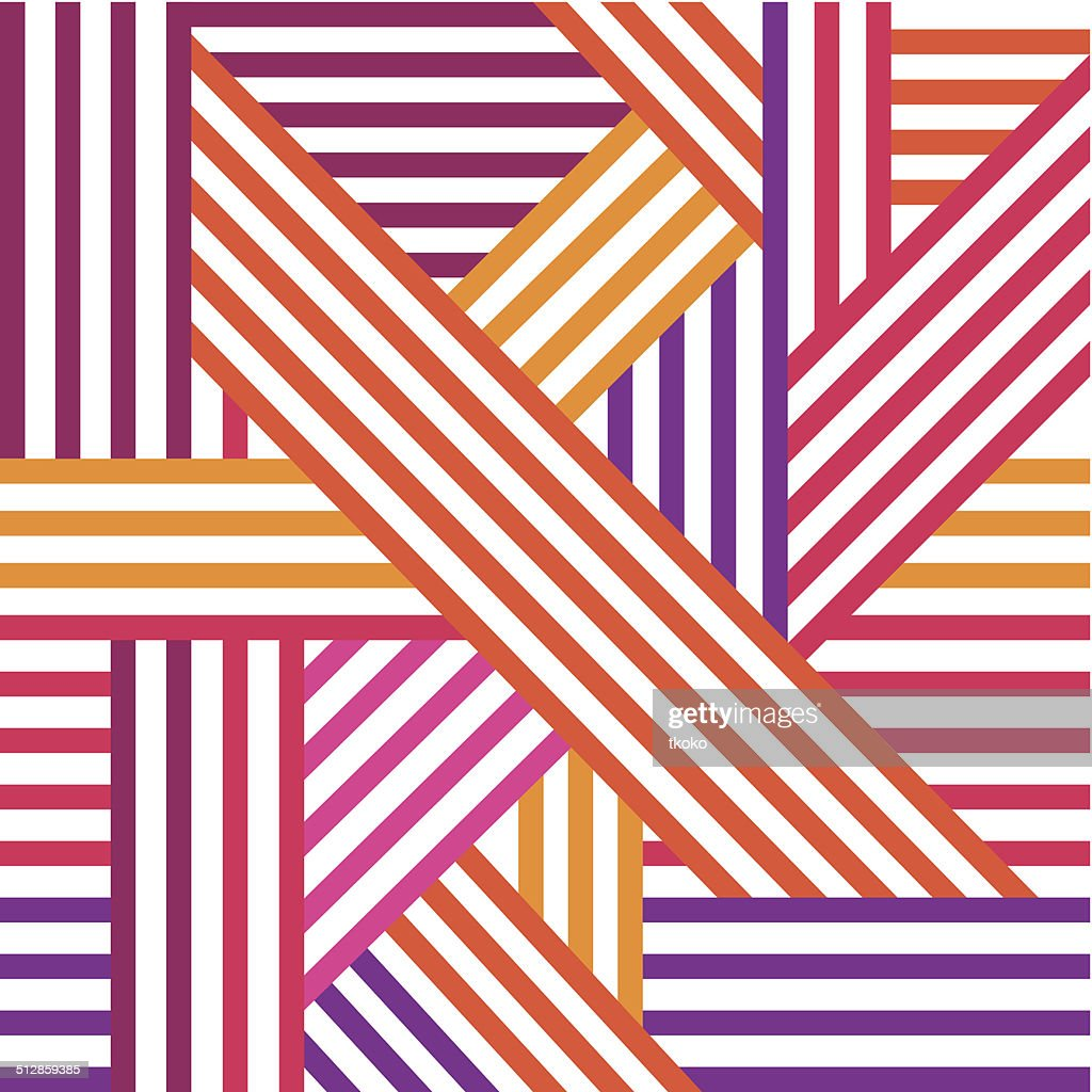 Abstract seamless pattern. Colored intersecting lines. Vector.
