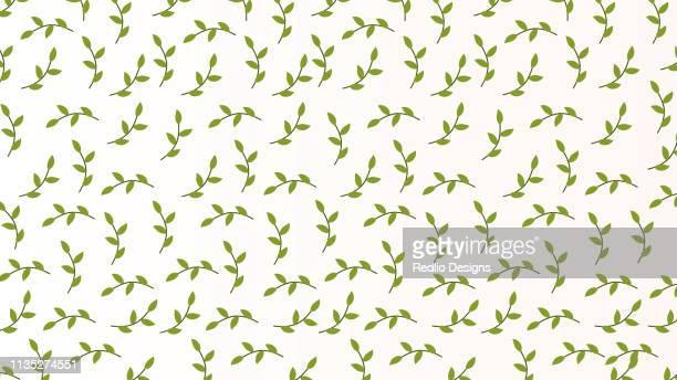 抽象的なシームレスなパターンの羽の花の葉。 - リーフ柄点のイラスト素材/クリップアート素材/マンガ素材/アイコン素材
