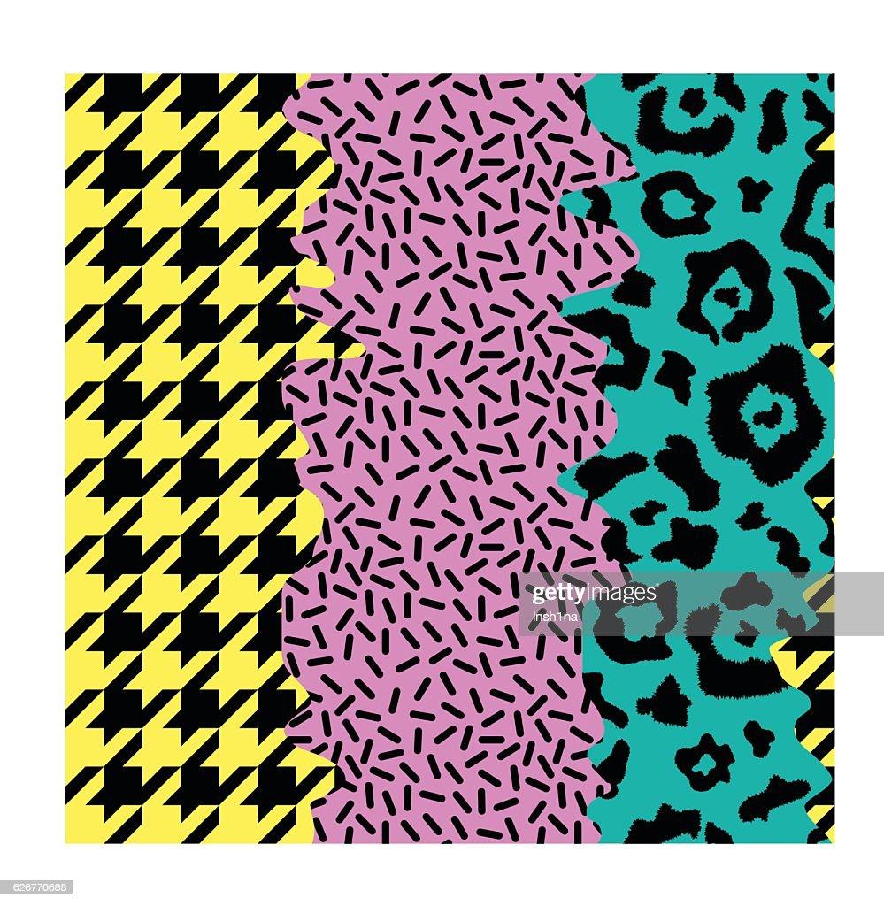 abstract seamless pattern pop art style