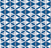 Abstract seamless pattern with cubic lattice. Angular geometric elements.