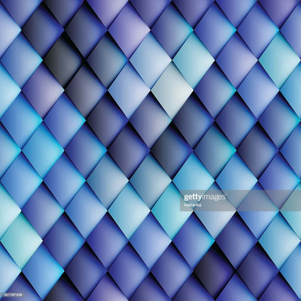 Abstract seamless rhombus pattern.