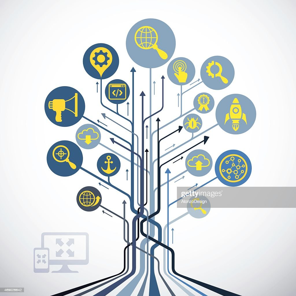 Abstract SEO Tree : stock illustration
