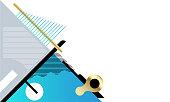 Abstract shape design for background template. Business presentation background. vector illustration.