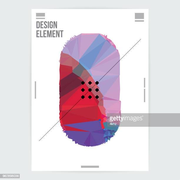 Abstract Shape Graphic Design Poster Layout Template