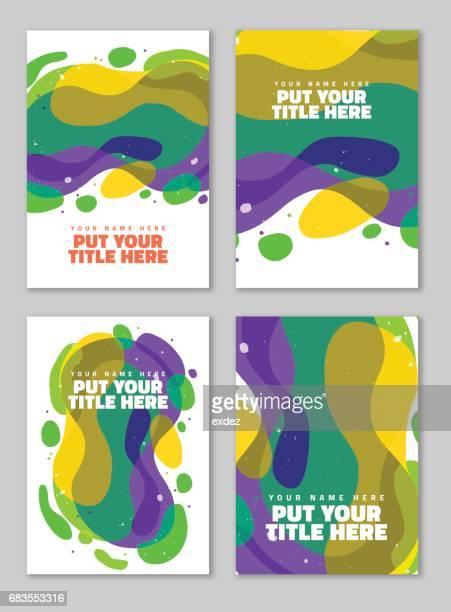 ilustrações, clipart, desenhos animados e ícones de abstrato forma - capa de livro