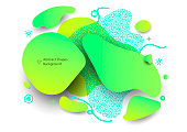 Abstract shapes dynamic concept background.