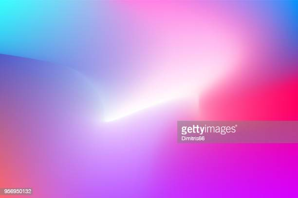 Abstract shiny background on blue to red