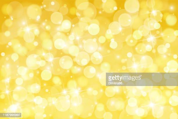 abstract shiny gold background - defocused stock illustrations