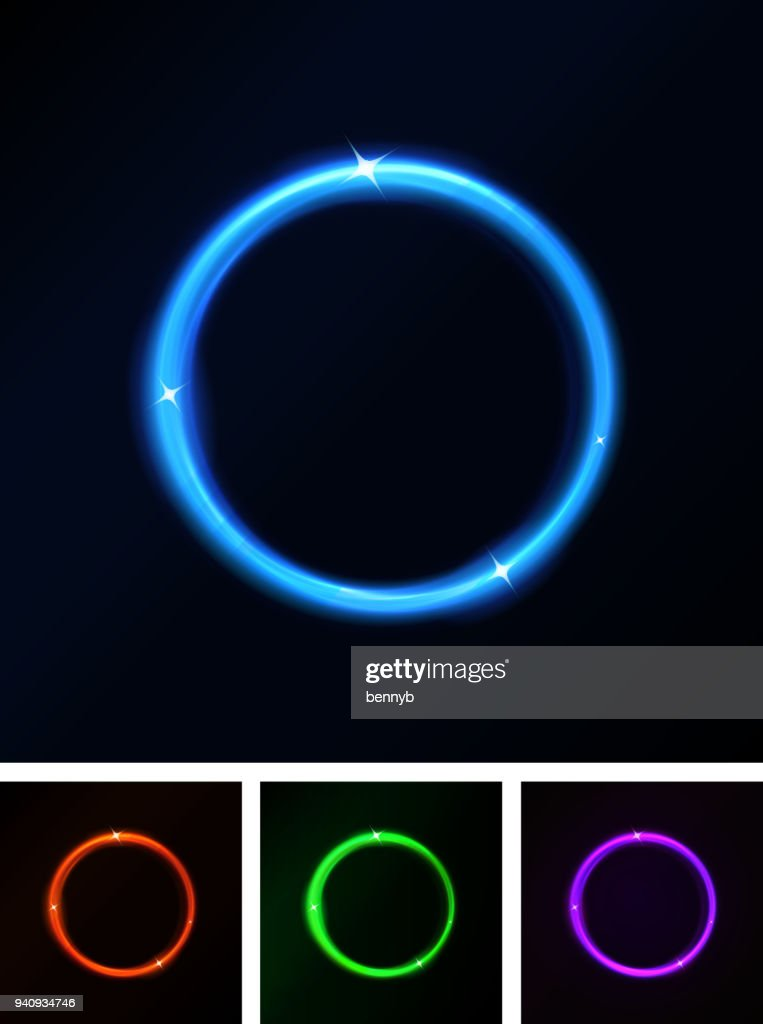 Abstract Shiny Laser Light Circles