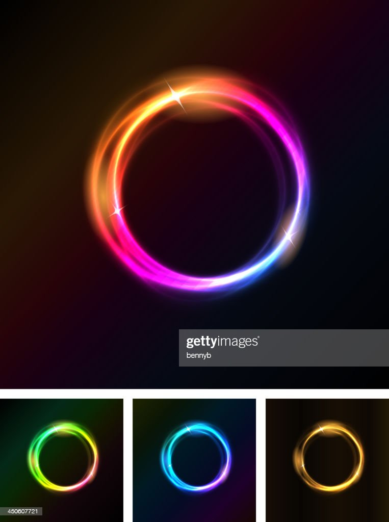 Abstract Shiny Light Circles