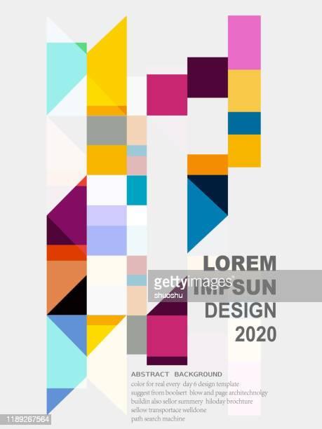 abstrakte einfachheit geometrische verzierte muster hintergrund - mosaik stock-grafiken, -clipart, -cartoons und -symbole