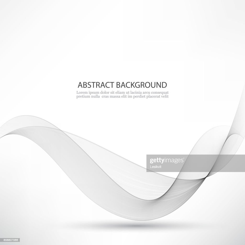 Abstract smooth gray wave vector