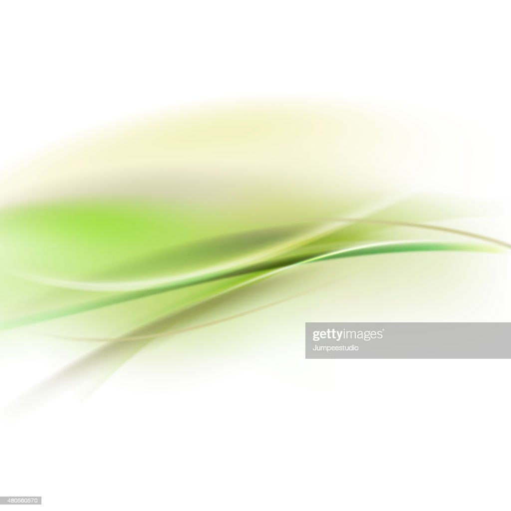 Abstract smooth green flow background for nature  tech or scienc : Vector Art