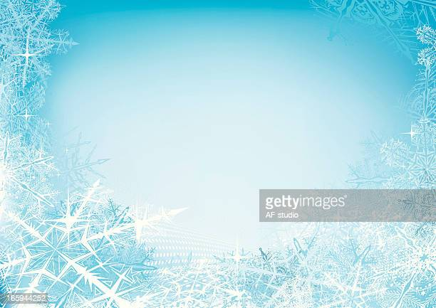 abstract snow background - frost stock illustrations, clip art, cartoons, & icons