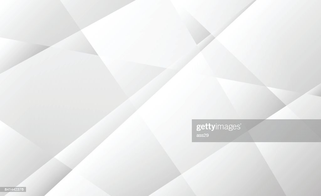 Abstract soft gray transparent geometric shapes on white background, Vector illustration