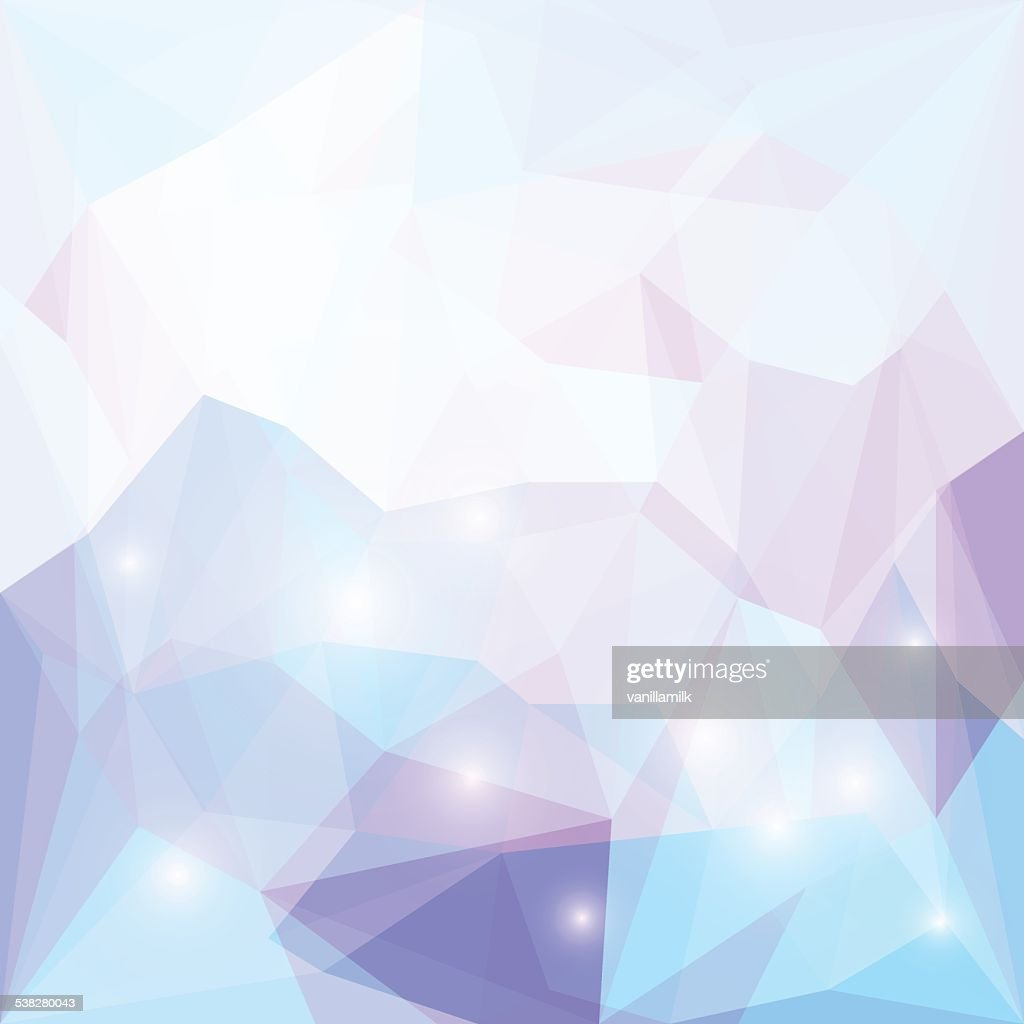 Abstract soft spectral purple colored polygonal triangular background with lights