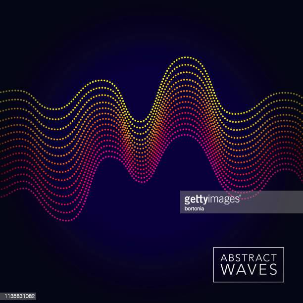 abstract sound wave background - dotted line stock illustrations
