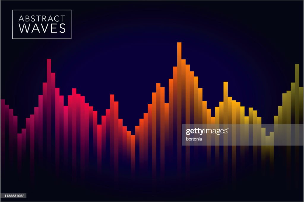 Abstract Sound Wave Background : Stock-Illustration