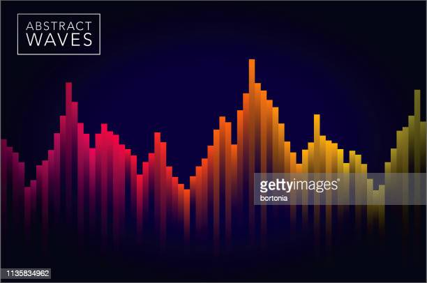 abstract sound wave background - graph stock illustrations