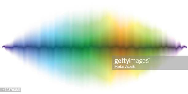 abstract soundwave background - frequency stock illustrations