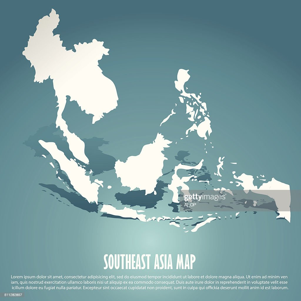 abstract southeast asia map