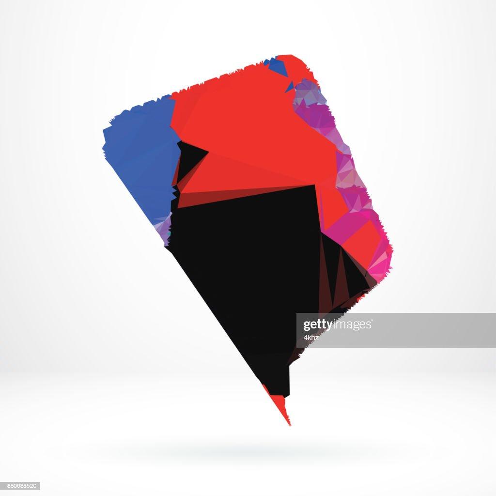élément De Design Graphique Abstraite Discours Bulle Forme Polygone